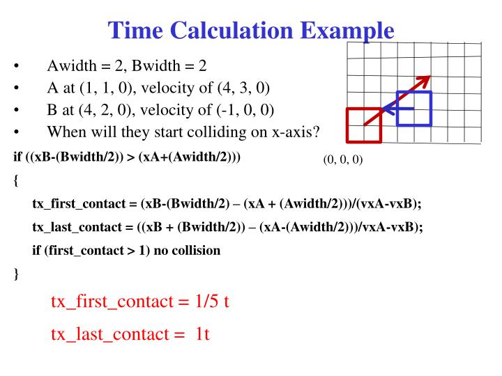 Time Calculation Example