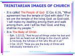 trinitarian images of church