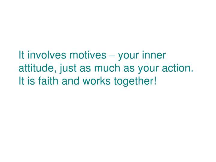 It involves motives