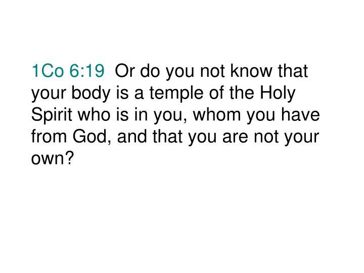 1Co 6:19