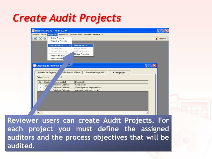 Create Audit Projects