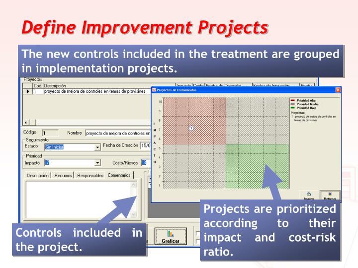 Define Improvement Projects