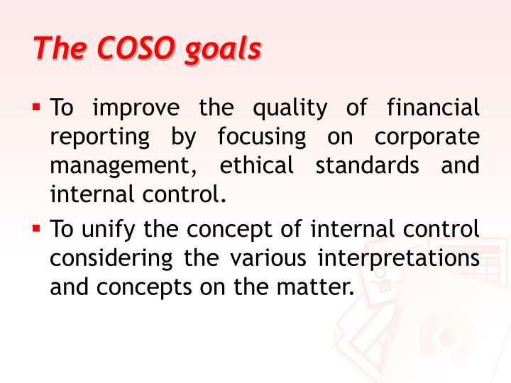 The COSO goals