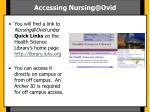 accessing nursing@ovid