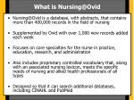 what is nursing@ovid