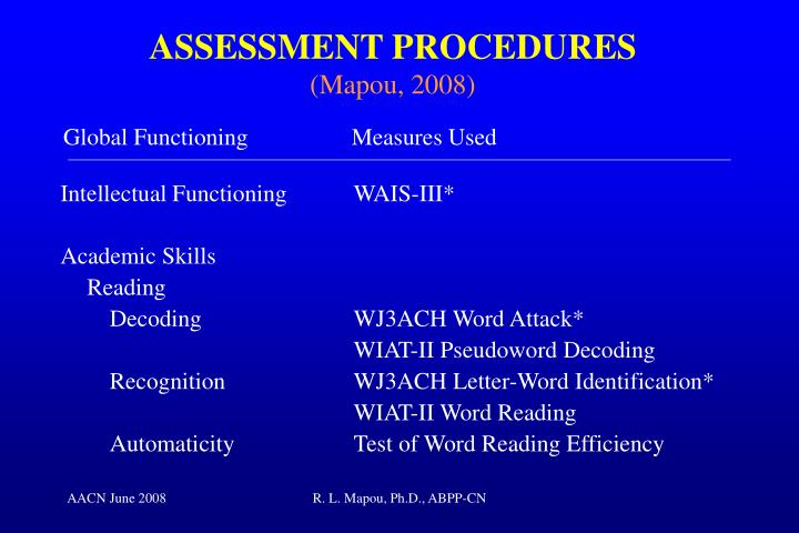Intellectual FunctioningWAIS-III*