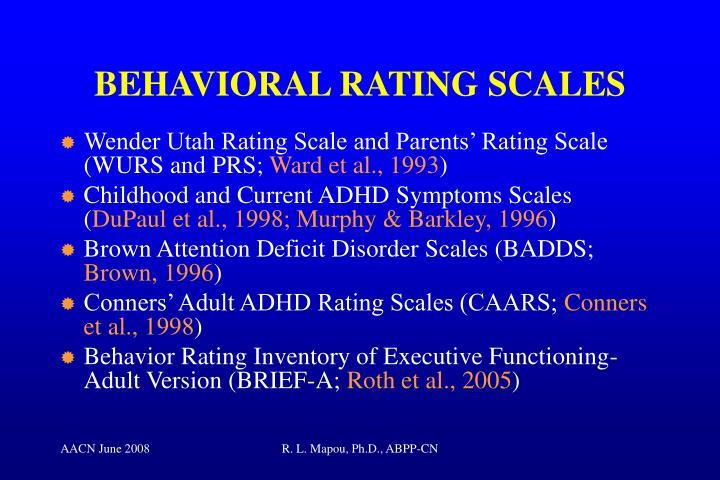 BEHAVIORAL RATING SCALES