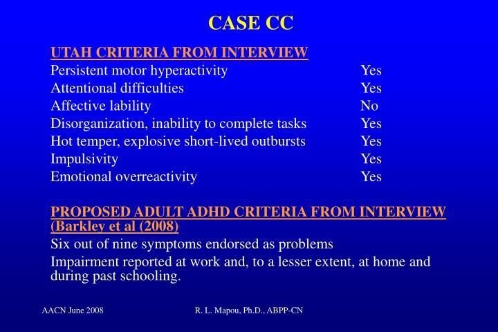 CASE CC
