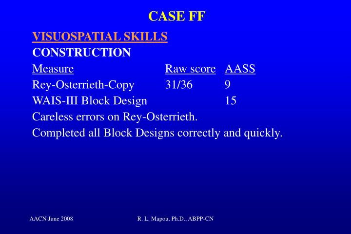 CASE FF