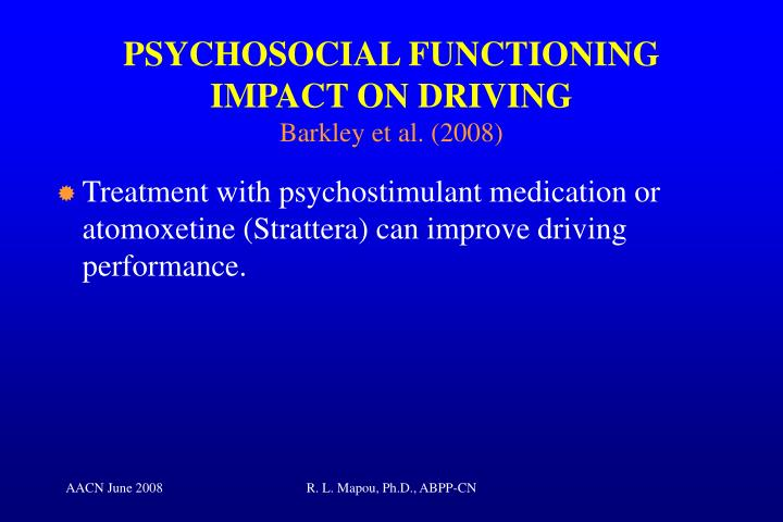 PSYCHOSOCIAL FUNCTIONING