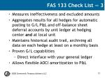 fas 133 check list 3