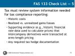 fas 133 check list 5