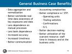 general business case benefits