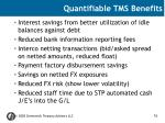 quantifiable tms benefits