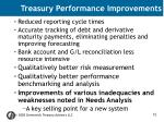 treasury performance improvements