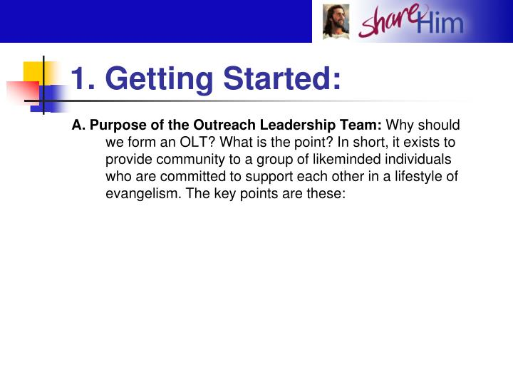 1. Getting Started: