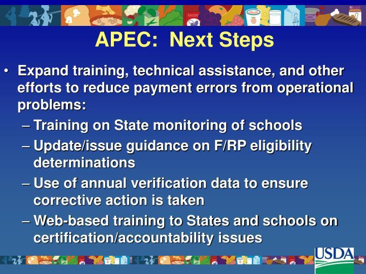 APEC:  Next Steps