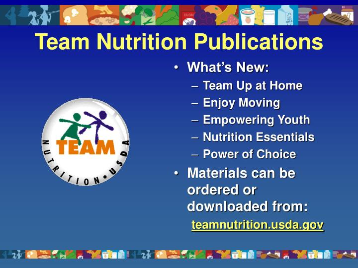 Team Nutrition Publications