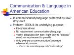 communication language in american education