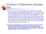 conclusion a reasonable equitable goal