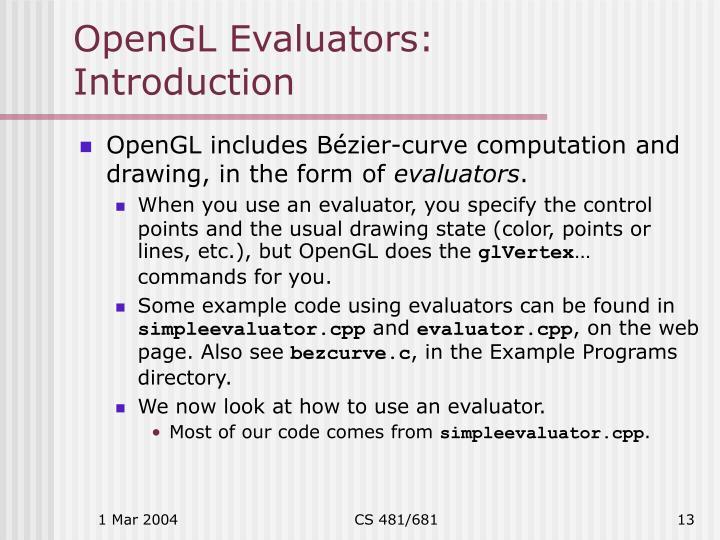 OpenGL Evaluators: