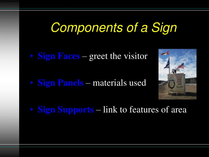 Components of a Sign