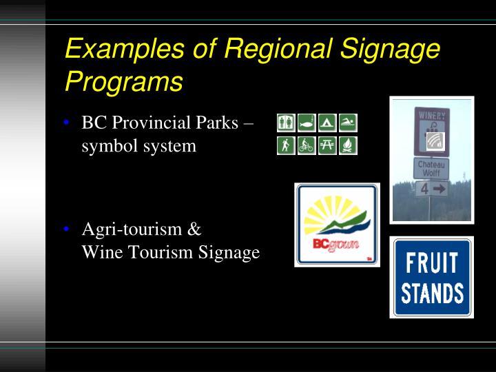 BC Provincial Parks – symbol system