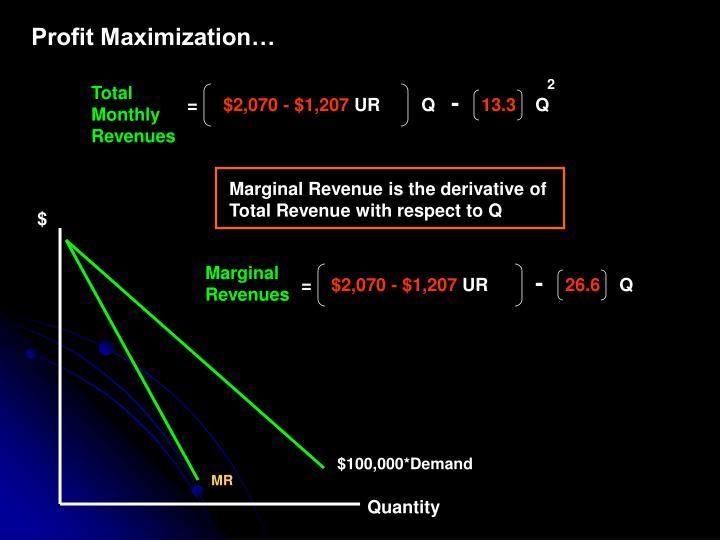 Profit Maximization…