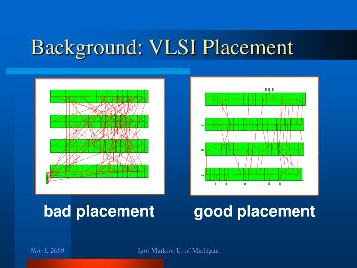 Background: VLSI Placement