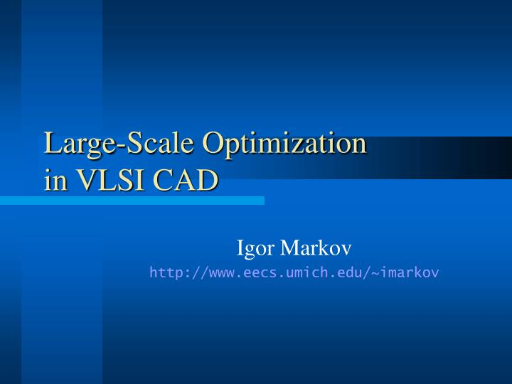 Large-Scale Optimization