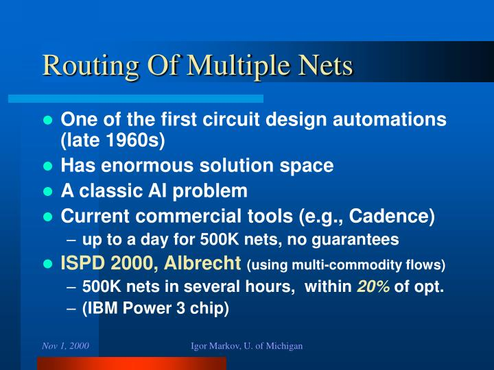 Routing Of Multiple Nets