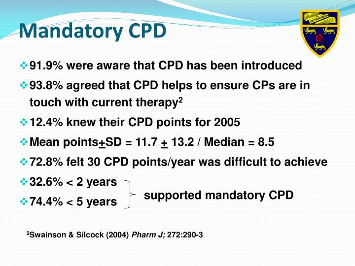 Mandatory CPD