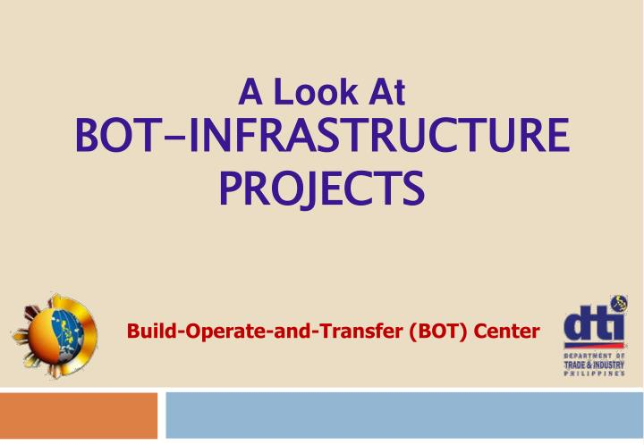 a look at bot infrastructure projects n.