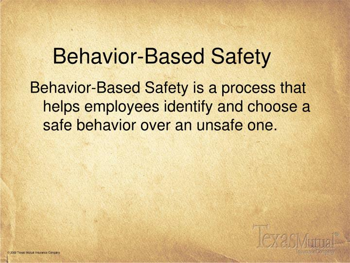 behavior based safety n.