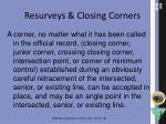resurveys closing corners