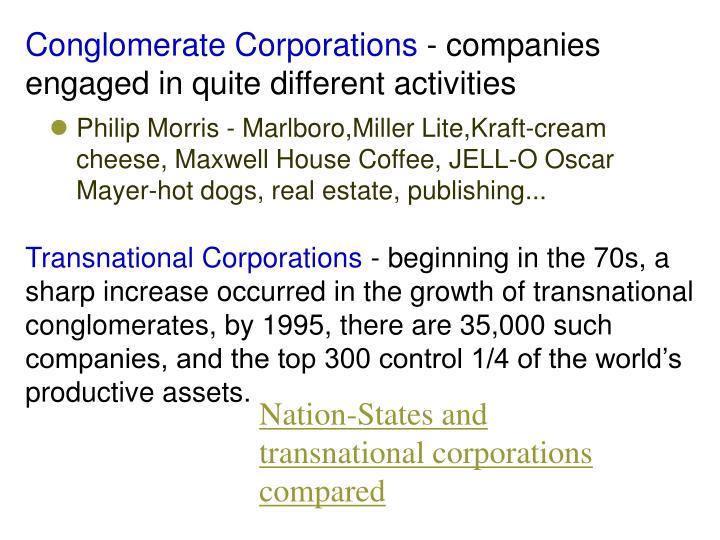 Conglomerate Corporations