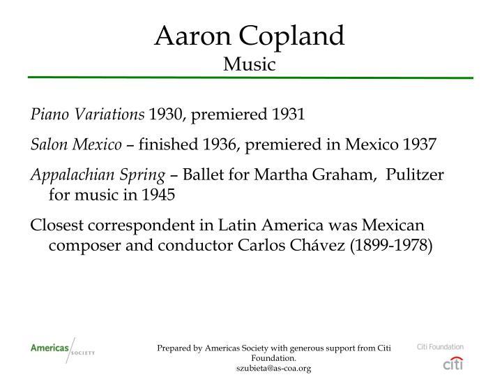 Aaron copland music