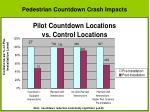 pedestrian countdown crash impacts