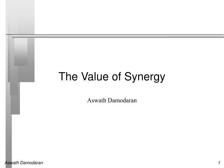 the value of synergy n.