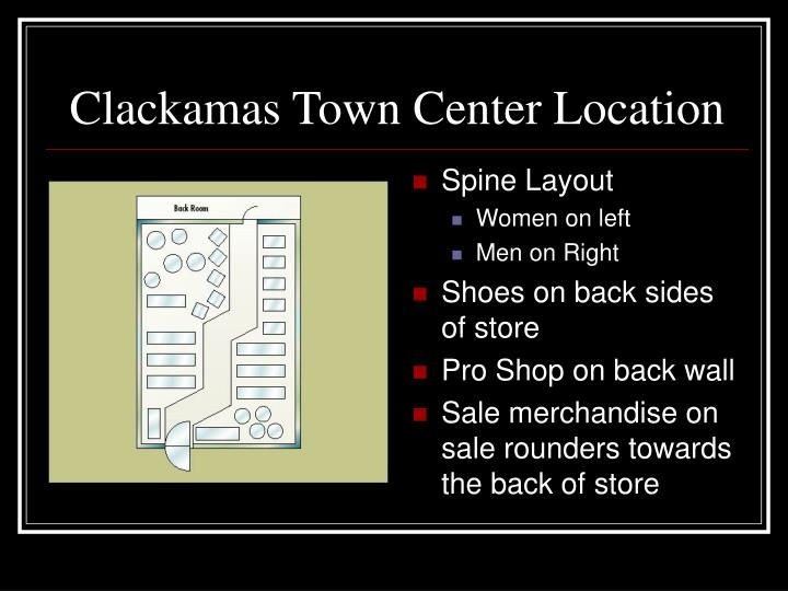 Clackamas Town Center Location