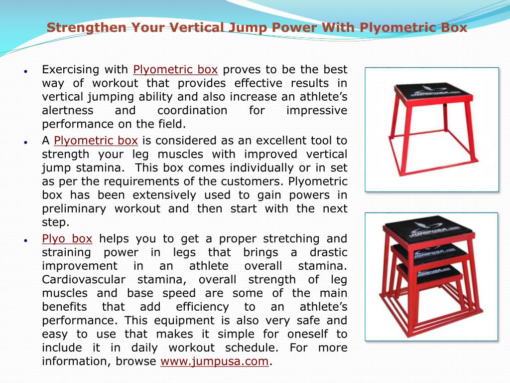Strengthen Your Vertical Jump Power With Plyometric Box