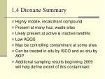 1 4 dioxane summary