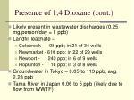 presence of 1 4 dioxane cont