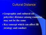cultural distance