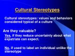cultural stereotypes