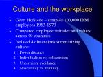 culture and the workplace