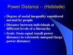 power distance hofstede