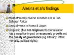 alesina et al s findings