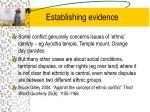 establishing evidence