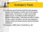 huntington s thesis